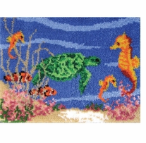 Latch Hook Kit Under The Sea 27inx20in
