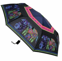 Laurel Burch Compact Umbrella Dog and Doggies