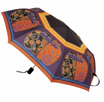 Laurel Burch Compact Umbrella Feline Family Portrait