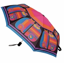 Laurel Burch Compact Umbrella Rainbow Cat Cousins