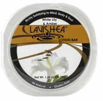 Lavishea Lotion Bar 1.35oz White Lily & Amber