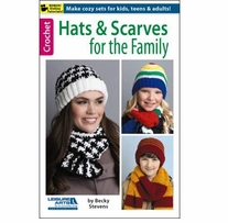 Leisure Arts Hats & Scarves For The Family