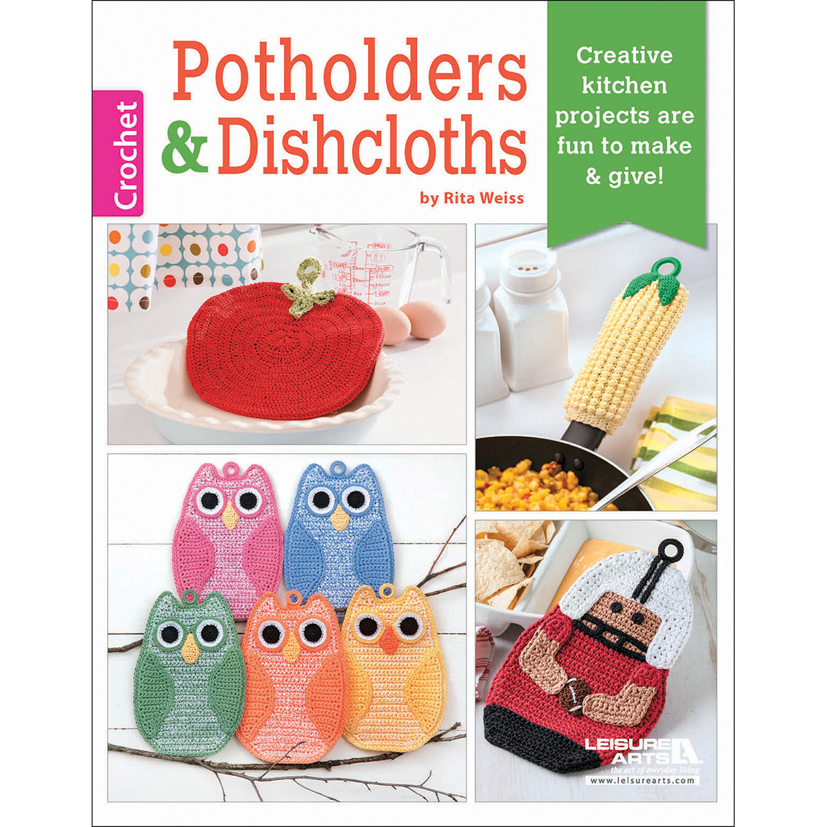 Leisure Arts Knitting Pattern Books : Leisure Arts Potholders and Dishcloths