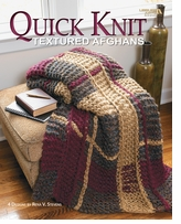 Leisure Arts Quick Knit Textured Afghans
