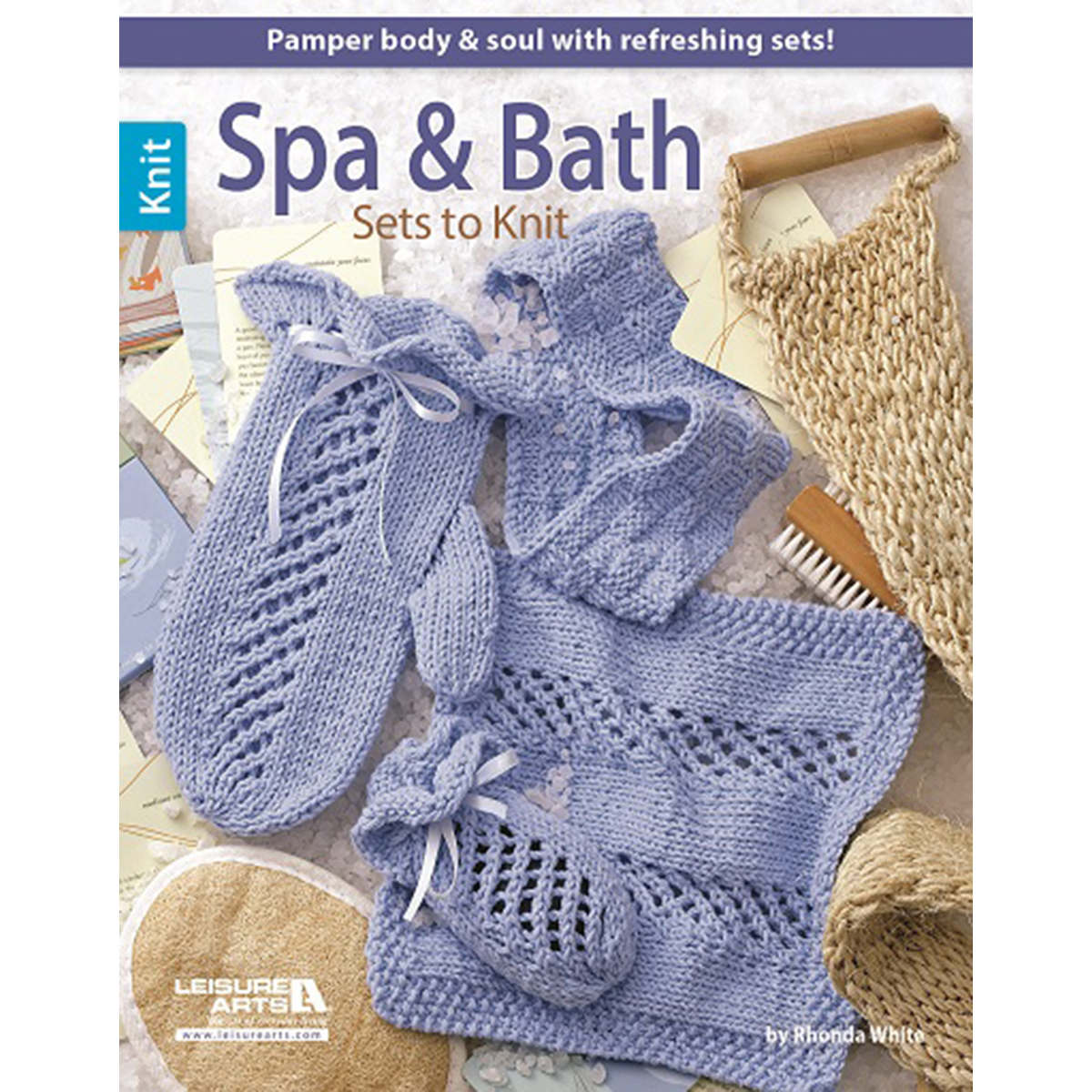 Leisure Arts Knitting Pattern Books : Leisure Arts Spa & Bath Sets To Knit