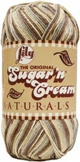 Lily� Sugar'n Cream� Yarn Big Ball Naturals Yarn Ombres - Click to enlarge
