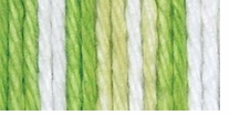 Lily Sugar'n Cream Yarn Stripes Lime Stripes