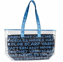 Lion Brand 2-In-1 Yarn Tote Blue