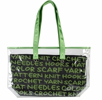 Lion Brand 2-In-1 Yarn Tote Green