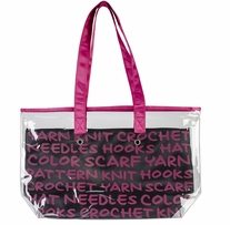 Lion Brand 2-In-1 Yarn Tote Pink