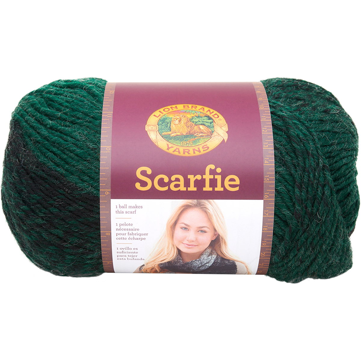 Lion Brand Scarfie Yarn Forest Black Lion Brand Scarfie Yarn