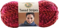 Lion Brand Tweed Stripes Yarn - Click to enlarge
