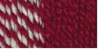 Lion Brand Wool-Ease Thick and Quick Yarn Crimson Stripes