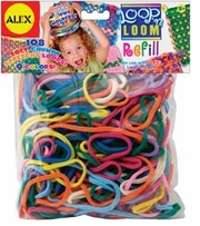 Loop N Loom Refill Loops 108/Pkg Multi Colors
