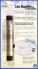LoRan Line Magnifier With Sliding Markers - Click to enlarge