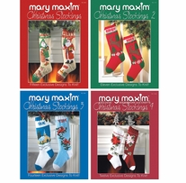 Mary Maxim Books Stocking Pattern Books Set Of 4