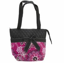 Mary Maxim Quilted Pink Purse 12in x 10in