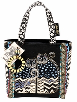 Medium Tote W/Zipper Top 9x9x3in Spotted Cats