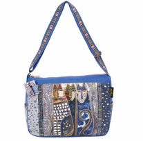 Medium Tote Zipper Top Autumn Felines 15inX4-1/2inX11-1/2in
