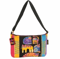 Medium Tote Zipper Top Fantastic Feline Totem