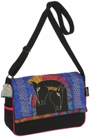 Messenger Bag Zipper Top Embracing Horses