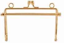 Metal Purse Frame Gold