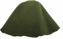 Millinery Base Wool Hoods Olive