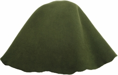 Millinery Base Wool Hoods Olive - Click to enlarge