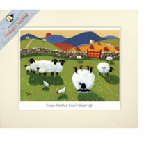 Mini Card Time To Put Ewe're Feet Up