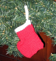 Mini Santa Sock Ornament