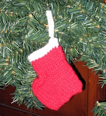 Mini Santa Sock Ornament - Click to enlarge