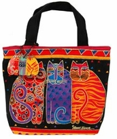 Mini Tote 11inX1inX10in Feline Friends