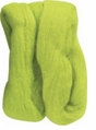 Natural Wool Roving Lime Green