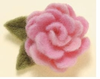 Needle Felting Applique Mold Rose Design