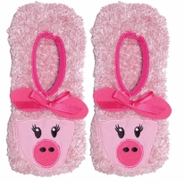 Novelty Slippers Pink Pig