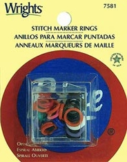 Open Coil Stitch Marker Rings - Click to enlarge