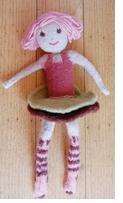 Pick Up Sticks! Knit Felting Patterns Flora Doll