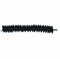 Picot Bracelet Kit Black & Bleu