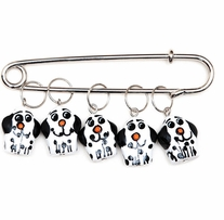 Puppy Stitch Markers Sizes 0 To 10 5/pkg