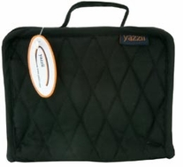 Quilted Cotton Large Organizer 7.2inX9.5inX3.2in Black