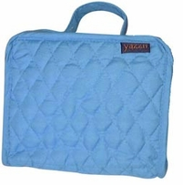 Quilted Cotton Petite Organizer 5inX6.4inX2.6in Aqua