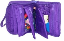 Quilted Cotton Petite Organizer 5inX6.4inX2.6in Black