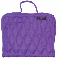 Quilted Cotton Petite Organizer 5inX6.4inX2.6in Purple
