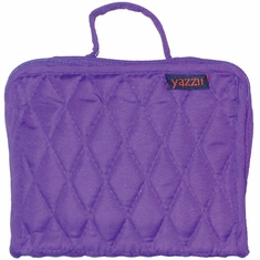 Quilted Cotton Petite Organizer 5inX6.4inX2.6in Purple - Click to enlarge