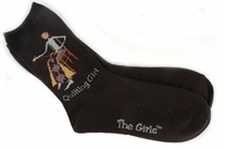 Quilting Girl Socks Black