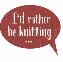 Rather Be Knitting Sign 9inx12in