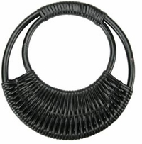 Rattan Purse Handle Black