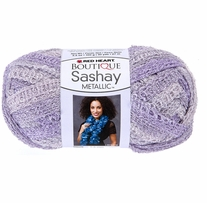 Red Heart Boutique Sashay Metallic Yarn Icy Lilac