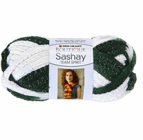 Red Heart Boutique Sashay Team Spirit Yarn Green, White