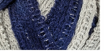 Red Heart Boutique Sashay Team Spirit Yarn Navy, Grey
